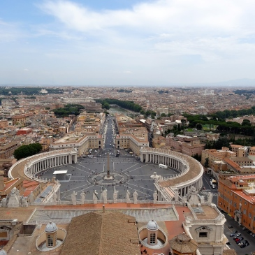 St Peters Square from the Cupola