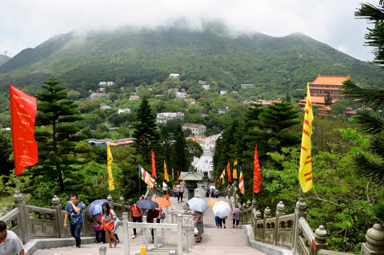 View from the top of the Buddha's platform