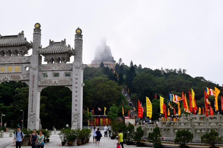 Flags celebrating Birthday of the Buddha