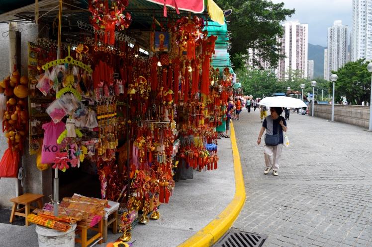 Stools outside Won Tai Sin Temple