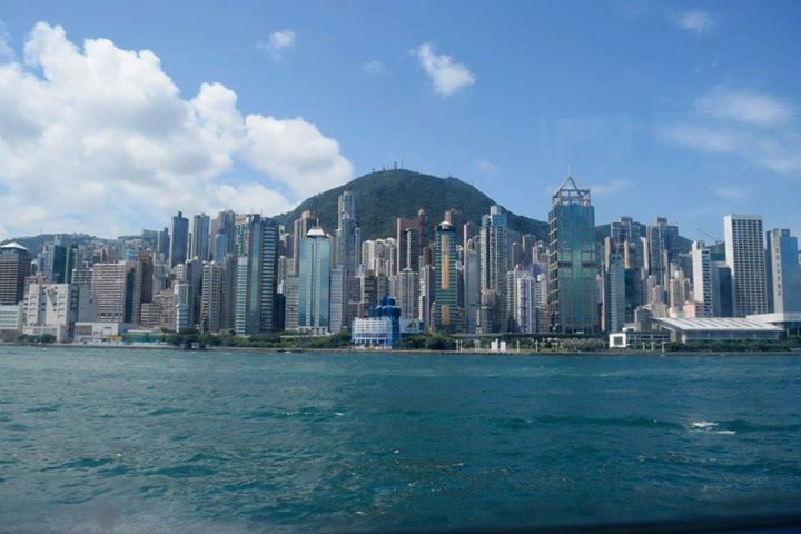 On our way to Macau, from Hong Kong - view of Kowloon from the ferry