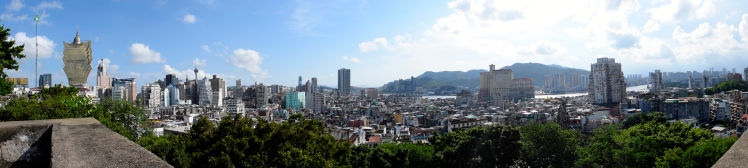 View of Macau from Monte Forte