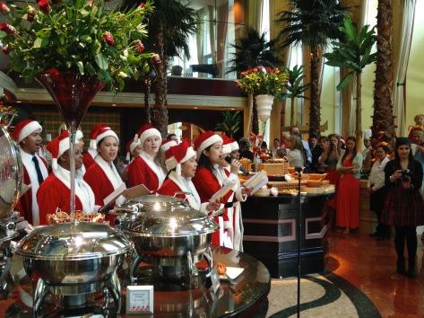 christmas carol singers at the Ritz