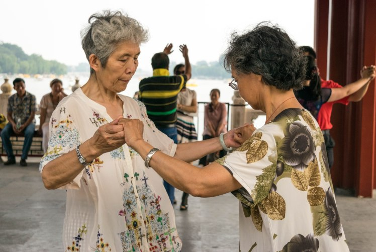 old ladies dancing