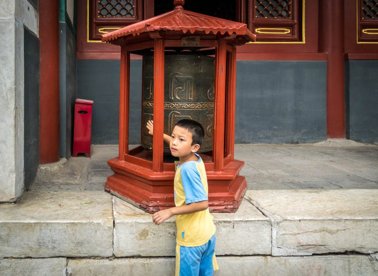 boy at temple