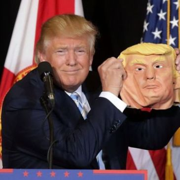 donald trump and mask